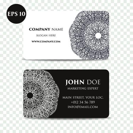meditation man: Vintage decorative elements. Business Cards. Ornamental floral. Oriental pattern illustration. Islam, Arabic Indian turkish motifs Illustration
