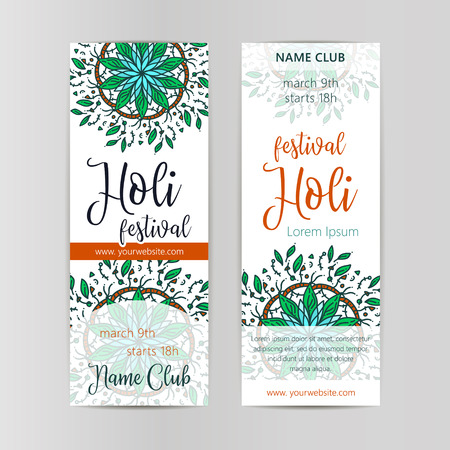 festive occasions: Creative Flyer, Banner or Pamphlet design for Indian Festival of Colours, Happy celebration.