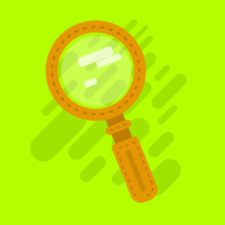Search icon. One of set web icons vector