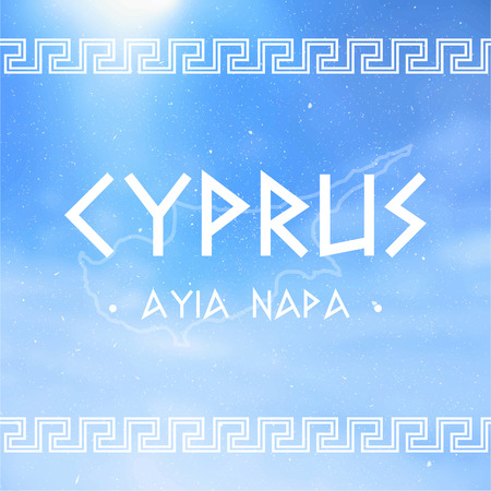 Vector Cyprus with name city Text Design illustration