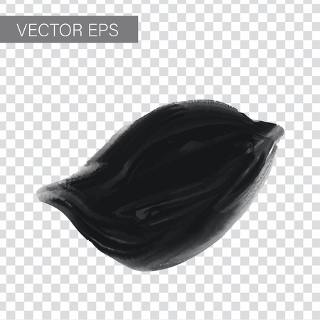 Abstract vector ink background. Black, white ink in water.