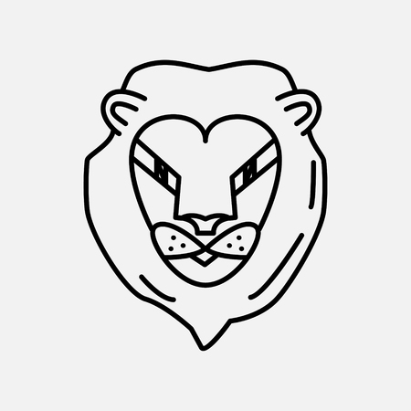 Lion icon illustration isolated vector sign symbo
