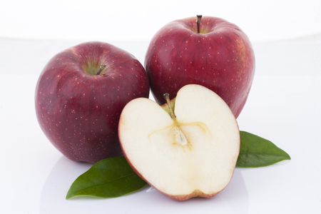 Fresh apple in white background