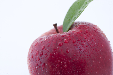 Fresh Apple juic in white background