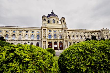 franz: Vienna, Austria - June 21, 2015: Museum of Art History by Gottfried Semper in Vienna, Maria-Theresien-Platz, Austria