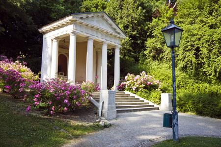 Monument to Mozart in Kurpark, BadenAustria Reklamní fotografie
