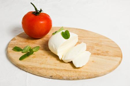 italian dish: traditional Italian dish: caprese salad.