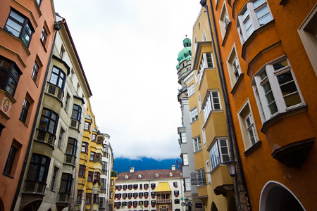 The house with a gold roof in the city of Innsbruk in Tyrol, Austria. The capital of the federal Land of Tyrol - Innsbruk.