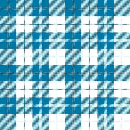 Seamless tartan plaid pattern in tealish blue and white.