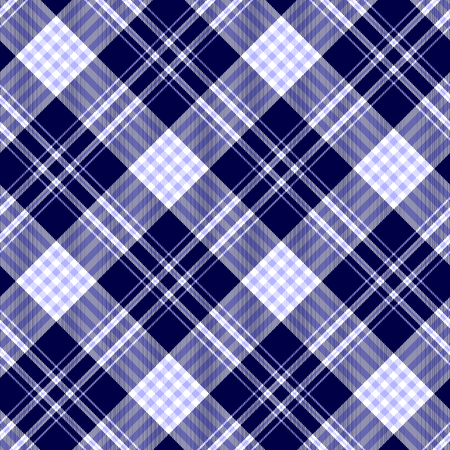 Seamless plaid pattern in pale blue, dark navy blue and white. Illustration