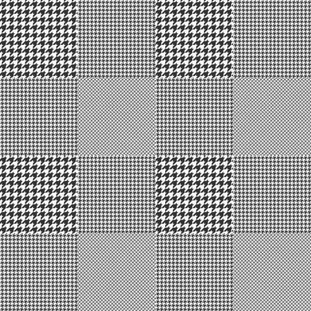 Glen plaid. Seamless fabric texture pattern. Vettoriali