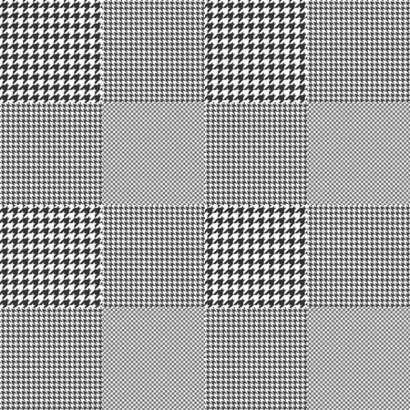 Glen plaid. Seamless fabric texture pattern. Vectores