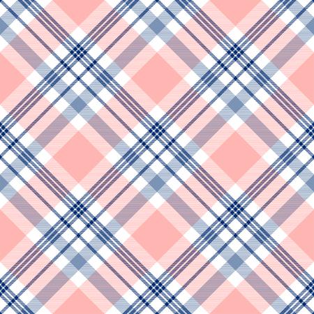 Seamless tartan fabric texture pattern. Vector illustration.
