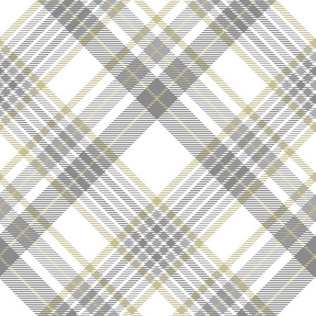 Fantasia scozzese in grigio, bianco e dorato.