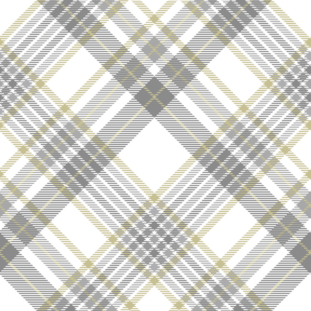 Plaid pattern in gray, white and golden tan.