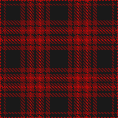 Plaid pattern in black and burgundy.
