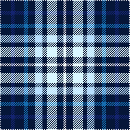 Plaid pattern in blue, navy, indigo and white. Illustration