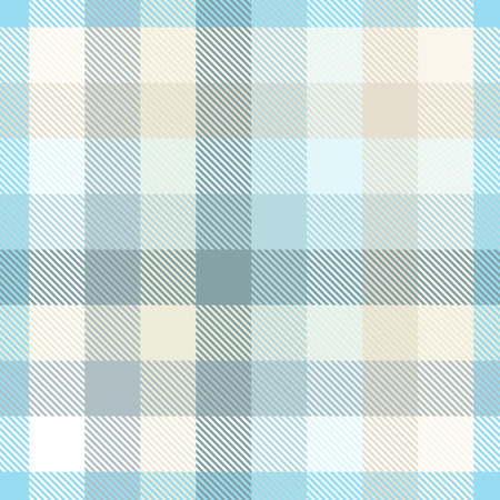 Plaid pattern in pastel blue, teal and tan.
