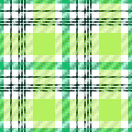 Madras plaid pattern in lime, green and white.