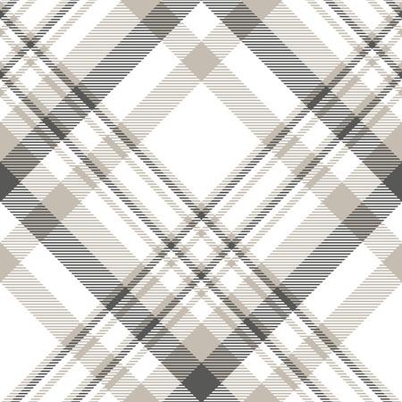 Fantasia scozzese grigio ardesia, tortora chiaro e bianco.
