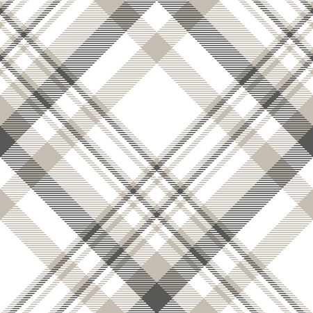 Plaid pattern in slate grey, pale taupe and white.
