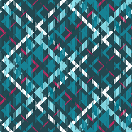 Plaid pattern in teal, aqua, amaranth and white.