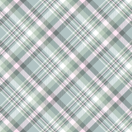 Plaid pattern in weathered green, pink and white.
