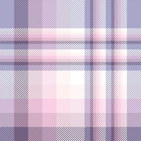 Plaid pattern in pink, violet, purple, beige and white.