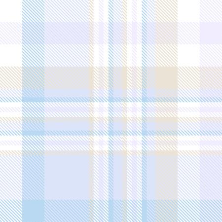 Karomuster in Pastellblau, Tan und Weiß. Vektorgrafik