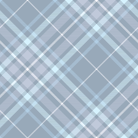 Seamless plaid pattern in faded blue, violet and white.