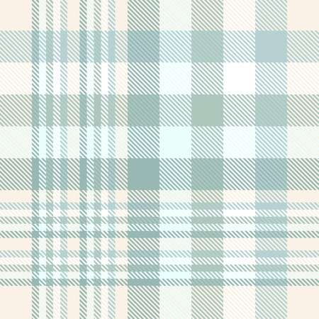 Seamless plaid pattern texture in weathered green and cream.