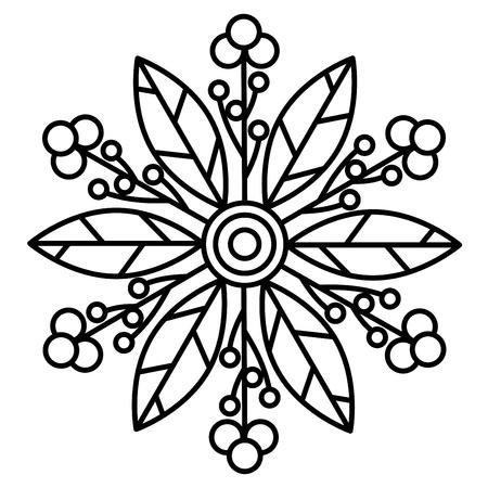 Imprimé mandala floral simple. Illustration de page de coloriage facile pour les enfants et les adultes débutants.