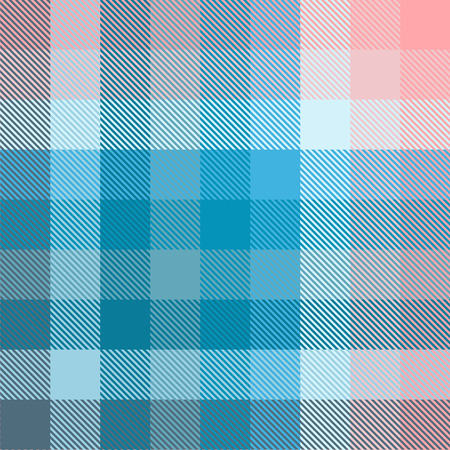 Plaid pattern in shades of blue and pink.