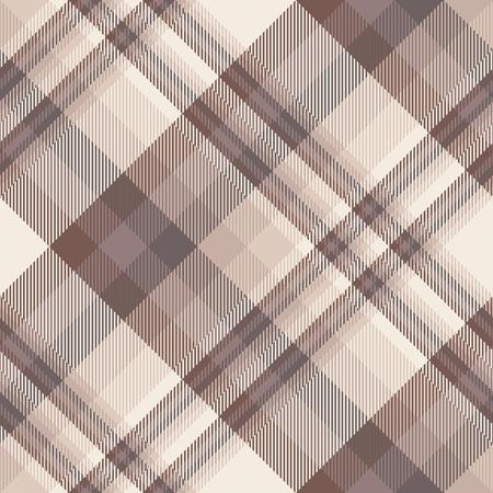 Seamless plaid pattern in brown, purple and pink. Vektorgrafik