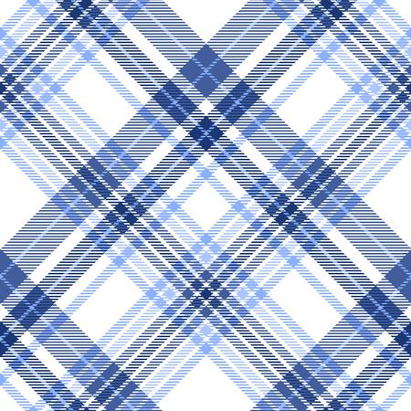 Patrón de cuadros en tonos azul, marino y blanco. Ilustración de vector