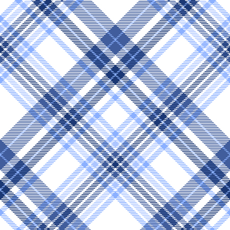 Plaid pattern in shades of blue, navy and white.