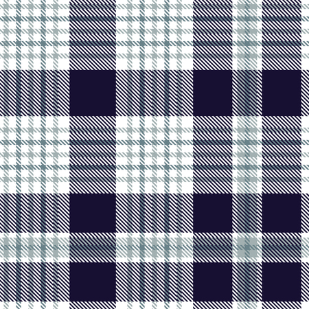 Nautical plaid pattern in dark indigo, blue and white.