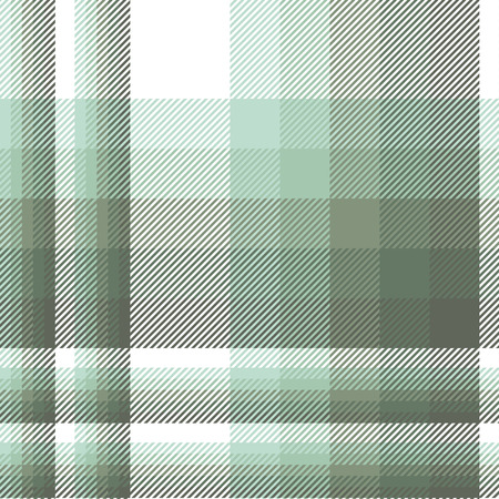 Plaid pattern in shades of celadon, artichoke green and white.