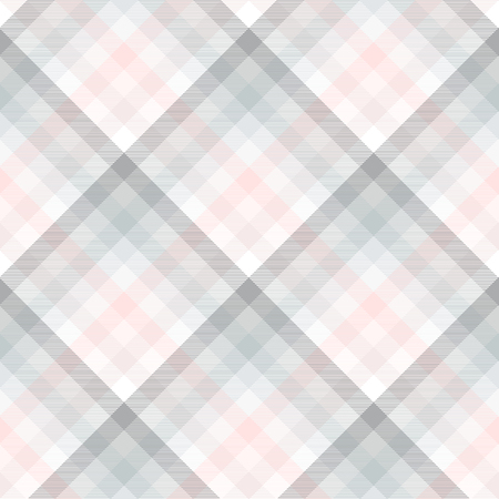 Plaid pattern in pale grey, pink and white.