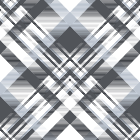 Plaid pattern in slate gray, dusty blue and white.