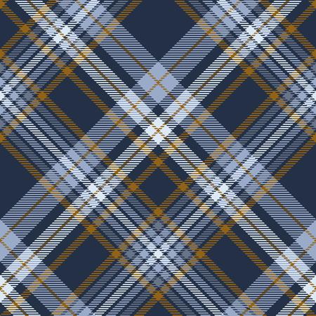 Fantasia scozzese in blu polveroso, blu navy sbiadito e marrone.