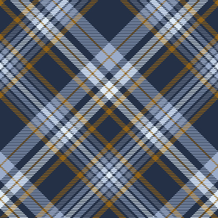 Plaid pattern in dusty blue, faded navy and brown. Ilustracja