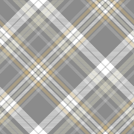 Plaid pattern in grey, pale khaki, brown and white.