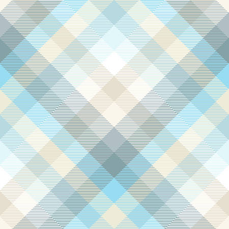 Plaid pattern in shades of pastel blue, teal and tan. Vettoriali
