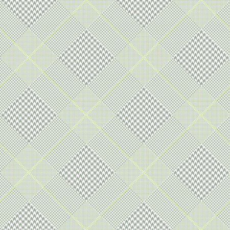 Prince of Wales check pattern in faded green.