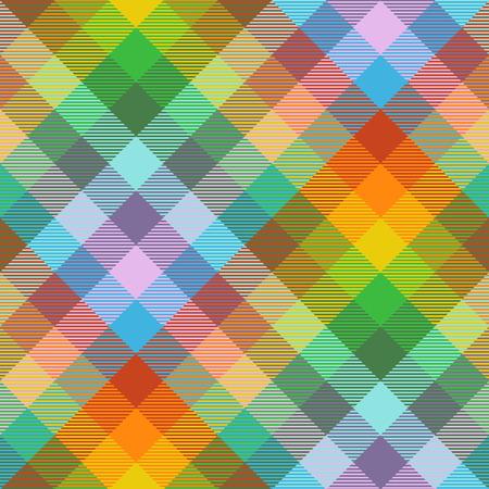 Patrón de cuadros de Madrás en la paleta de colores del arco iris.