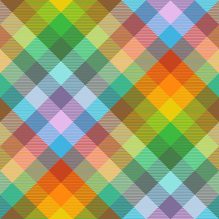 Madras plaid pattern in rainbow color palette.