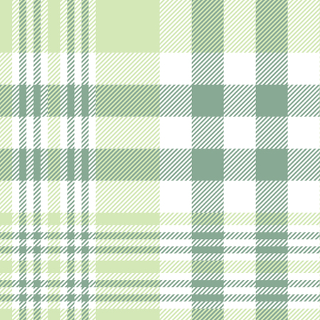 Plaid pattern in pastel green and white.