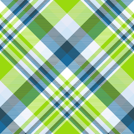 Madras plaid pattern in lime, green, teal, blue and white. Foto de archivo - 121999245