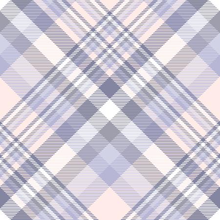 Motif à carreaux en lavande, violet, rose pêche et blanc.